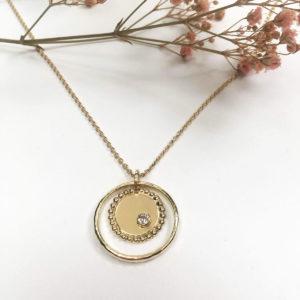 Medaille Femme Or Originale